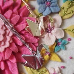 NEW Origami Swans Oriental Chinese Silver Gold